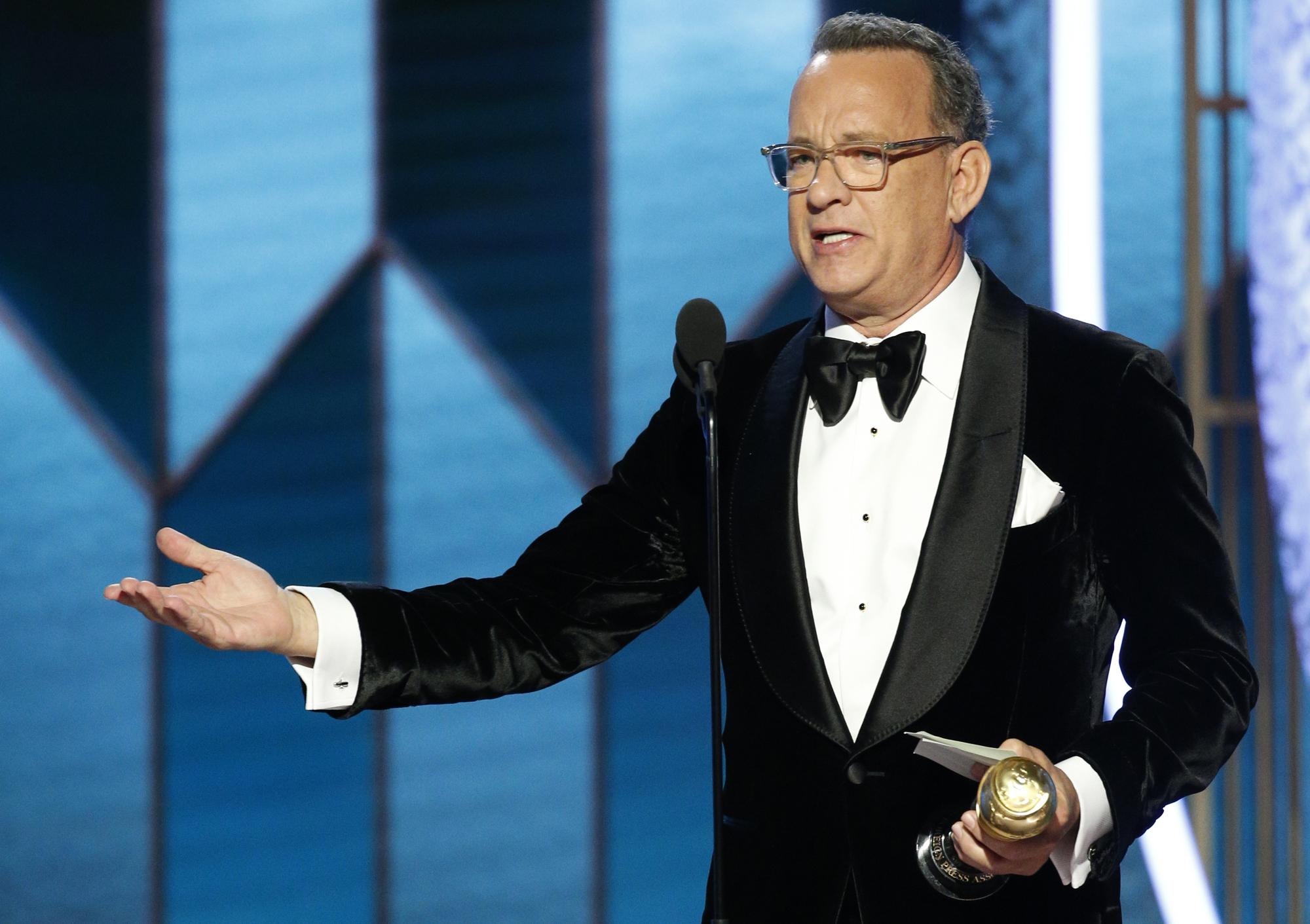 Tom Hanks tại quả cầu vàng 2020