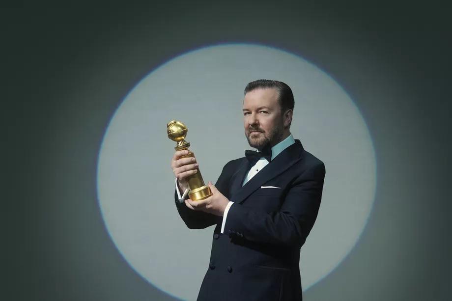 ricky gervais quả cầu vàng 2020