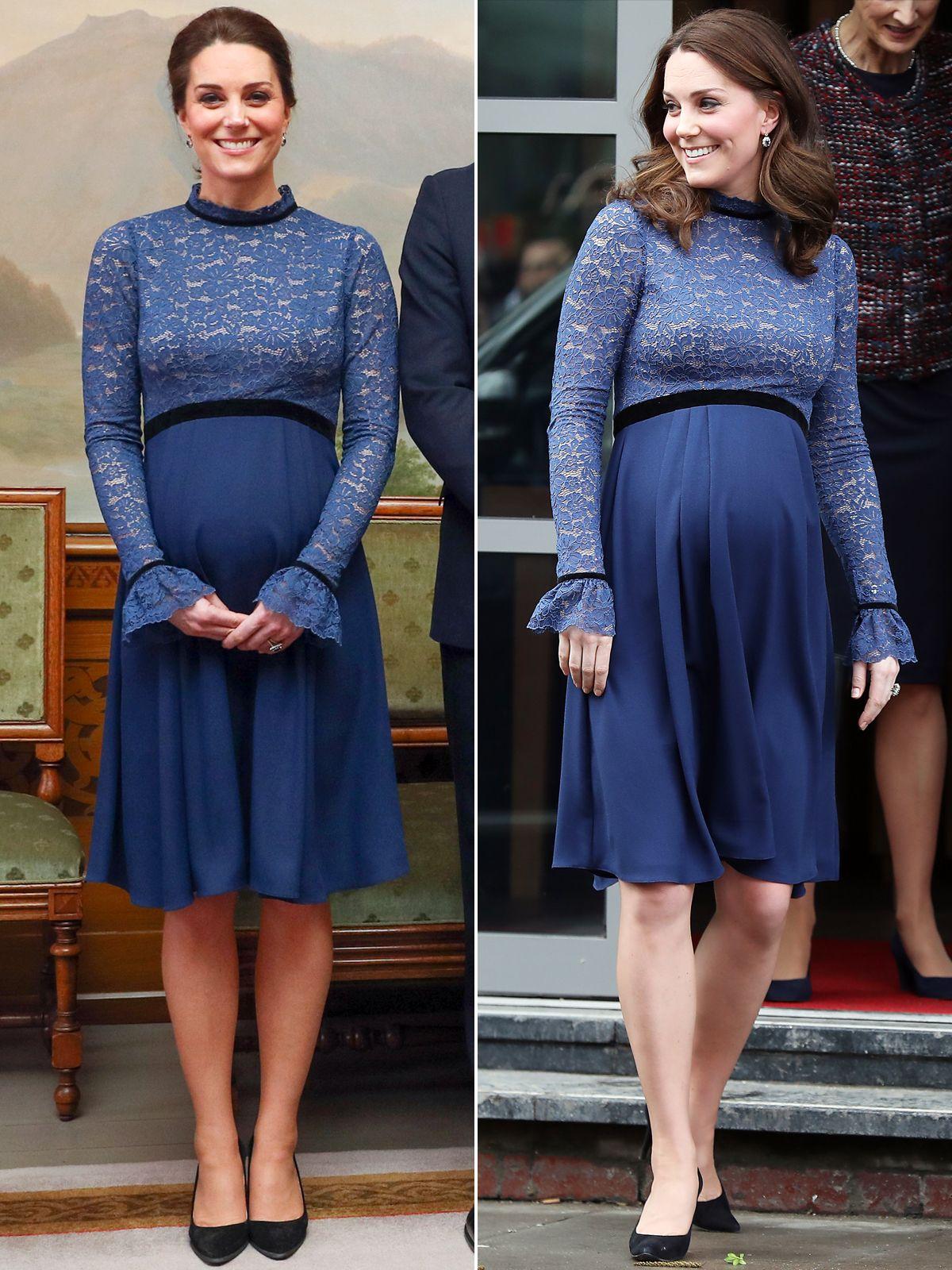Kate Middleton đầm bầu 8 tháng