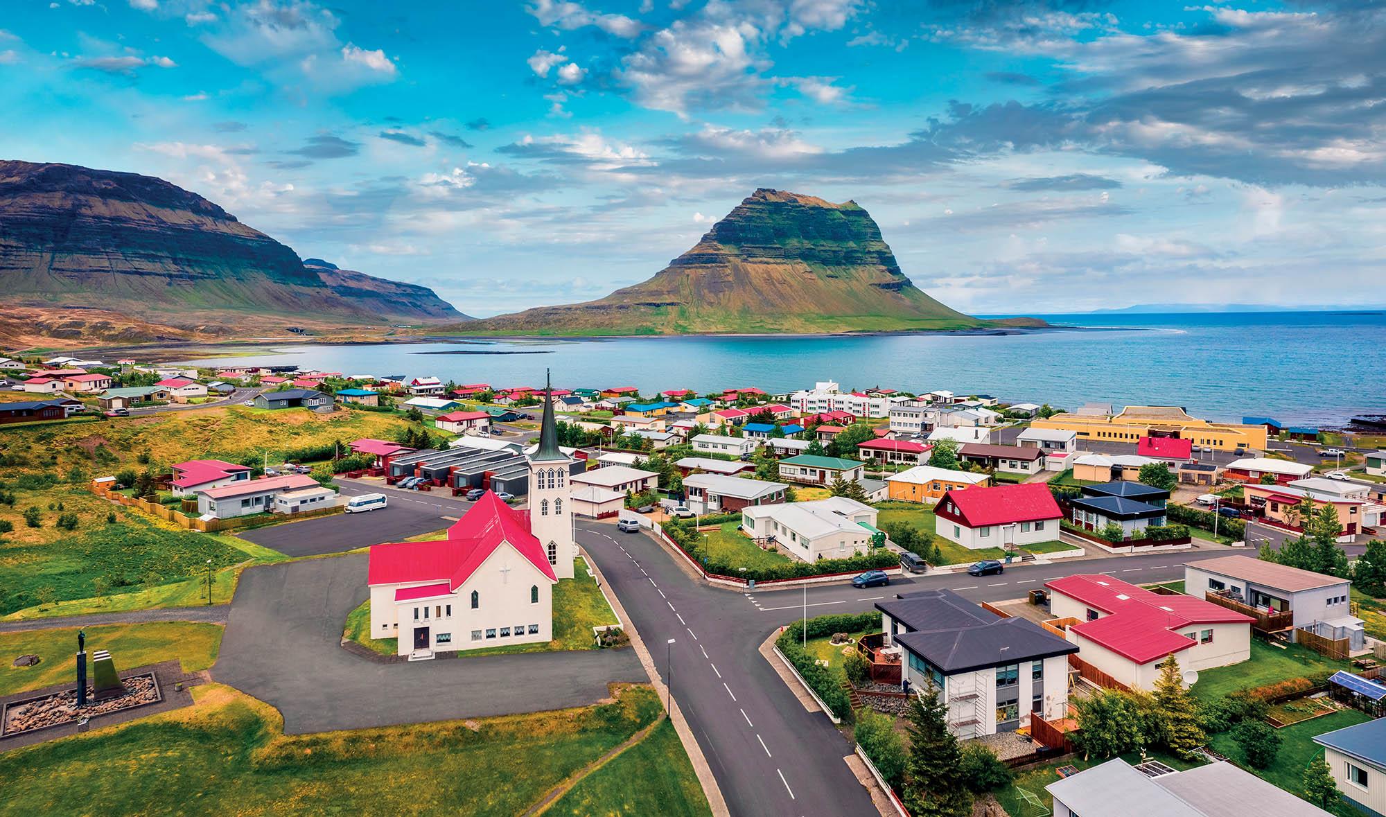 địa điểm Iceland khung cảnh thị trấn