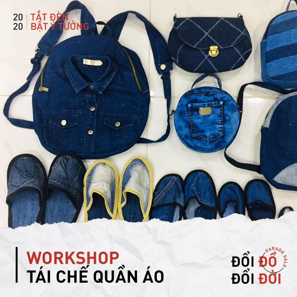workshop tái chế quần áo tại chiến dịch tắt đèn bật ý tưởng