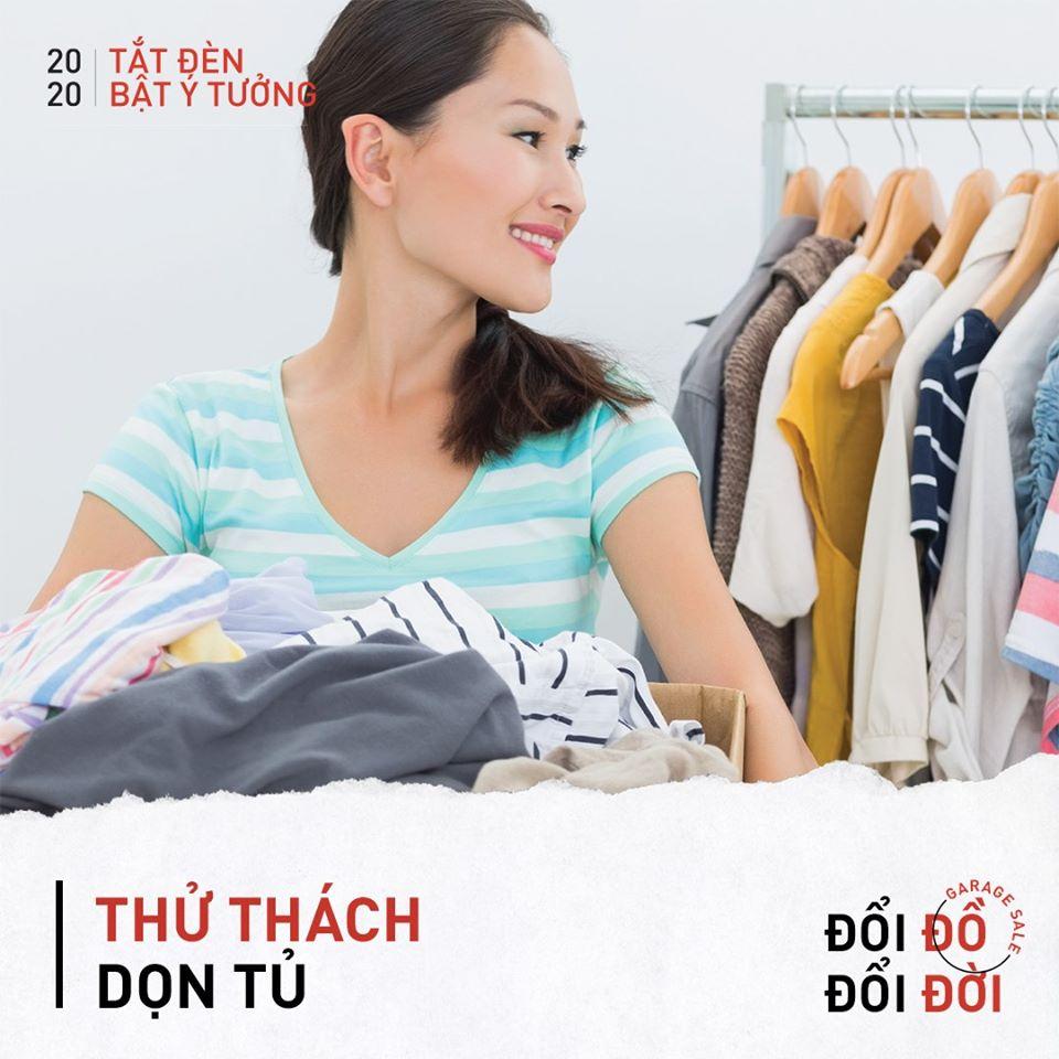 thử thách dọn tủ đồ - chiến dịch tắt đèn bật ý tưởng