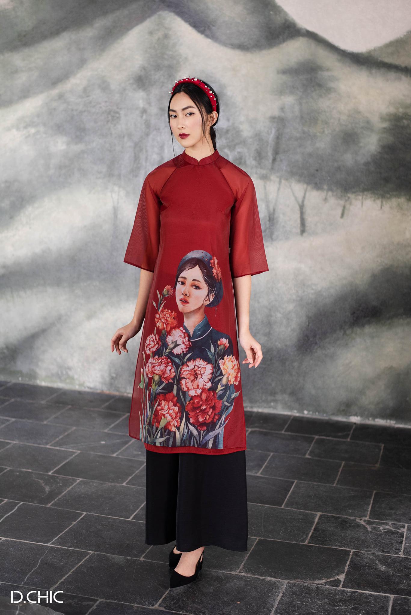 áo dài tết 2020 d.chic diễm