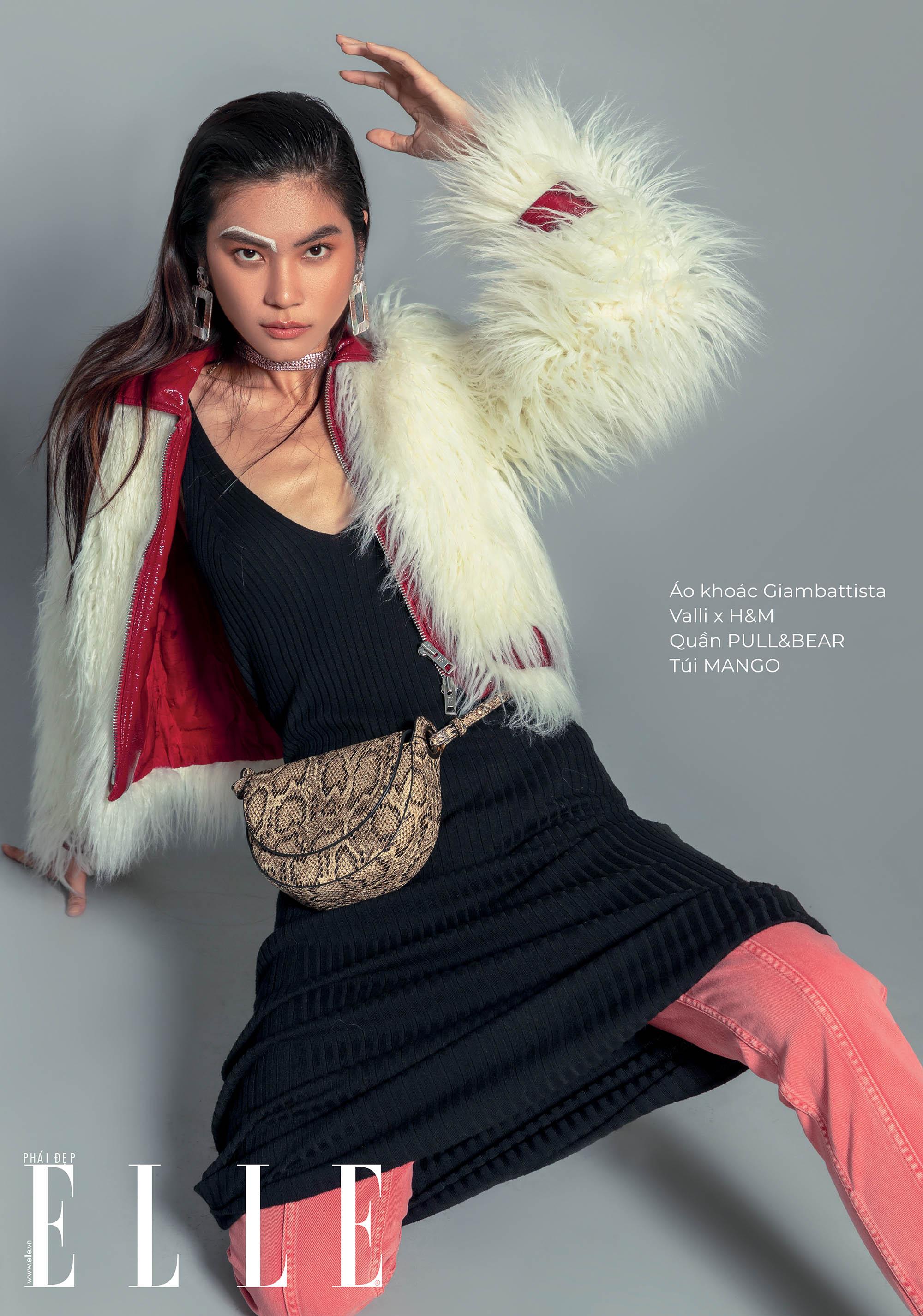 trang phục len người mẫu mặc áo lông