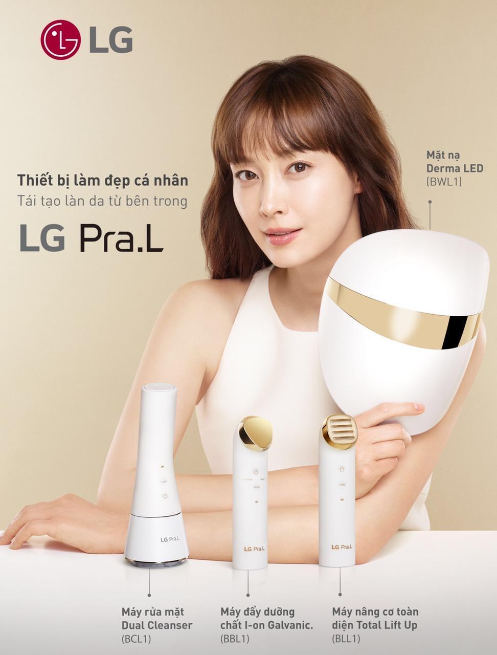 Chăm sóc da mặt hiệu quả cùng mặt nạ derma led LG Pra.L
