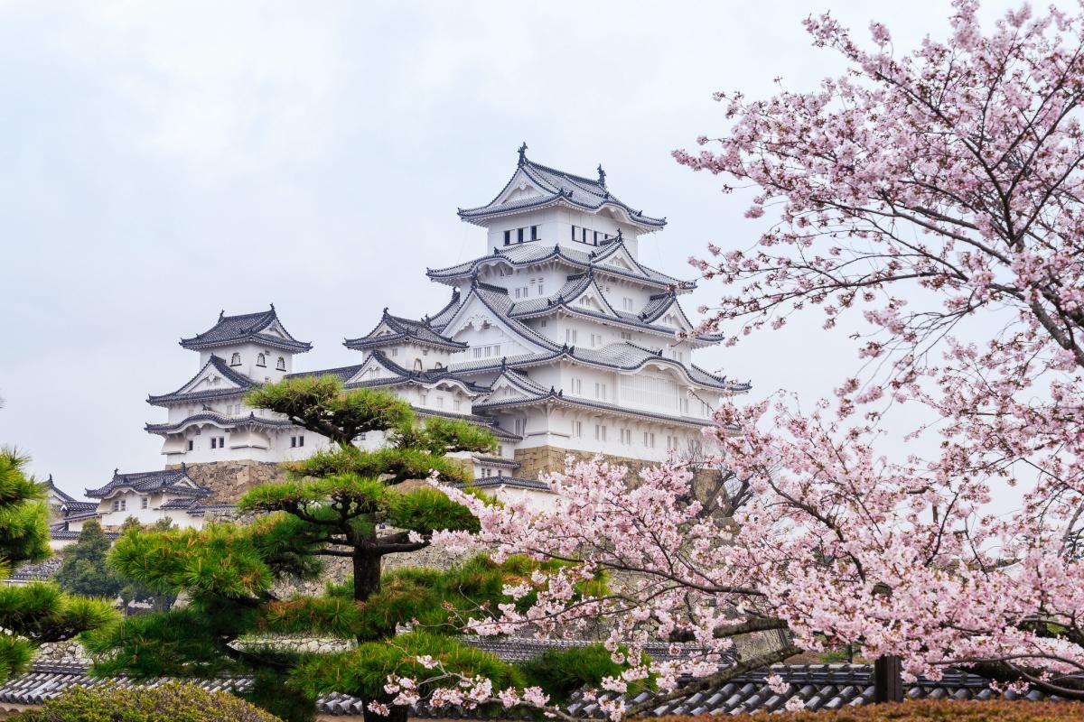 lâu đài Himeji Nhật Bản cổ tích