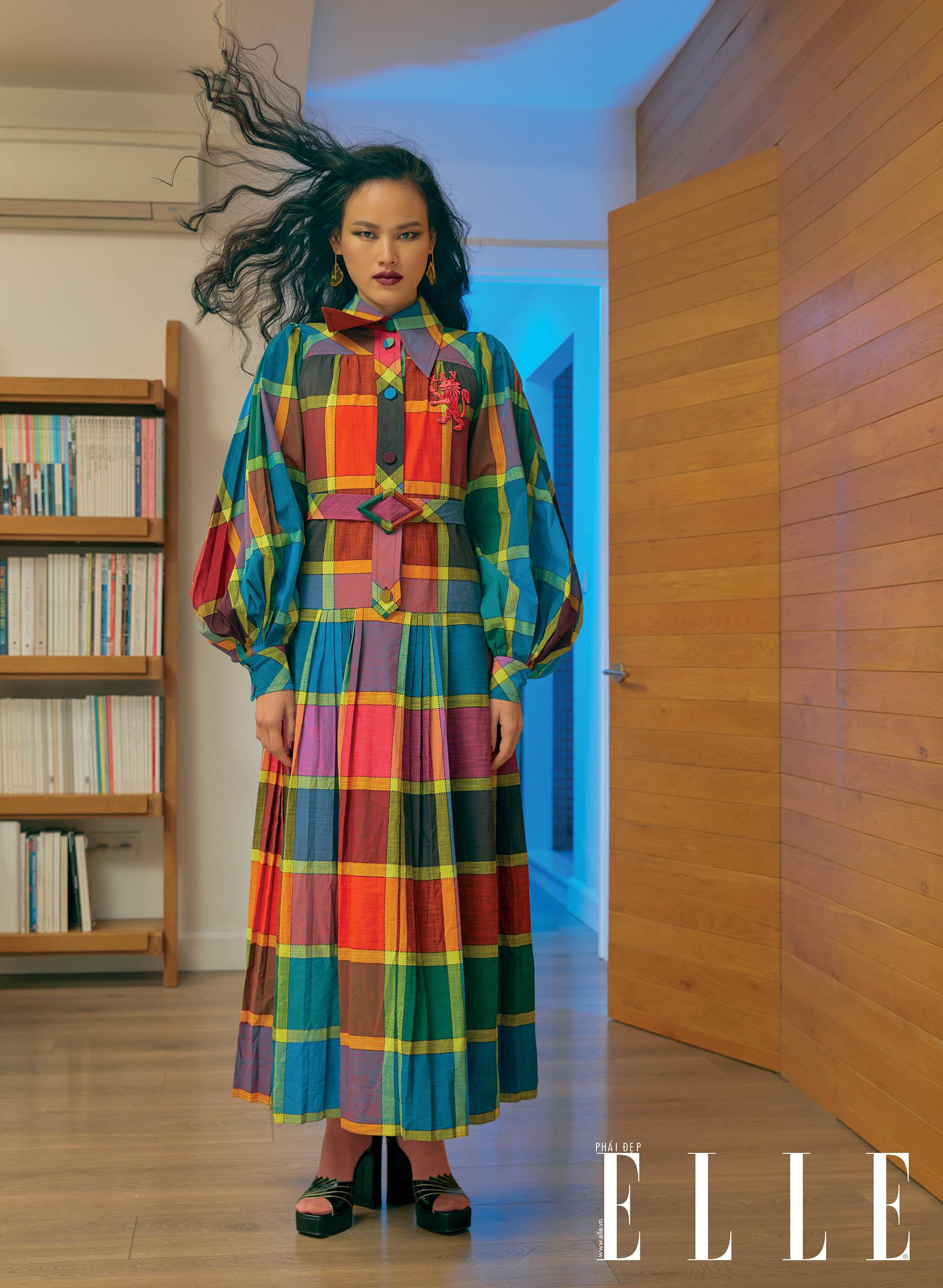 bộ ảnh trang phục caro nhiều màu