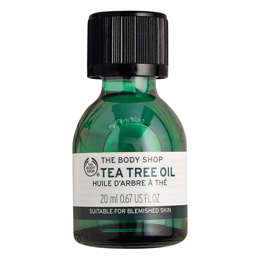 Cách trị mụn-The Body Shop Tea Tree Oil.