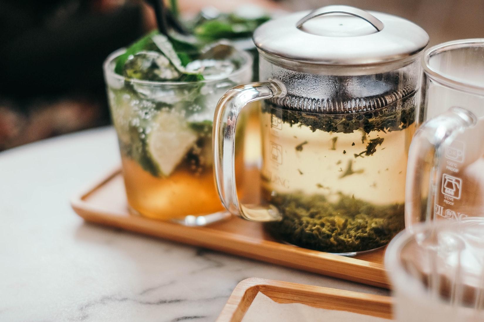 Giải độc cơ thể từ trà xanh.