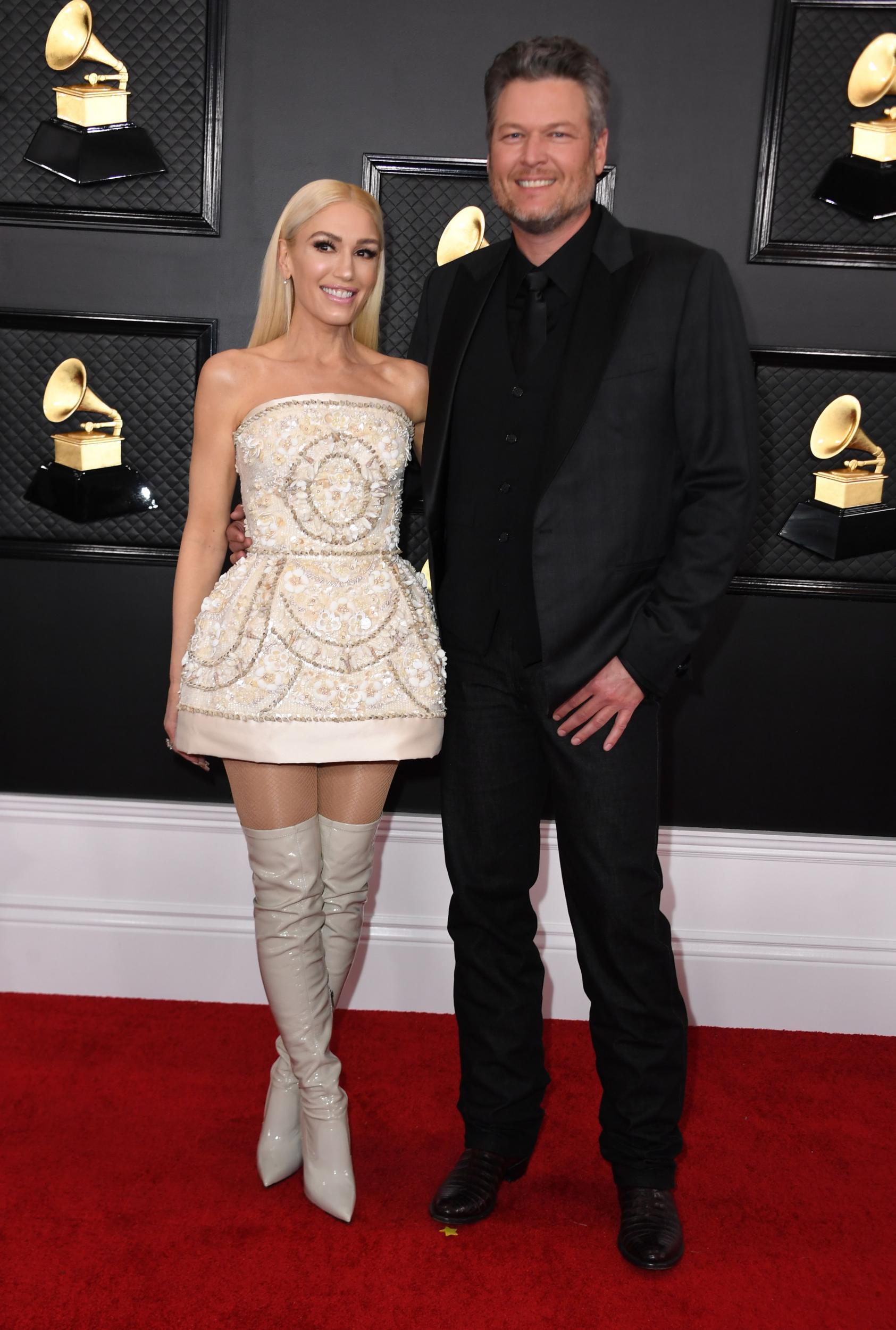 Gwen Stefani dự thảm đỏ grammy 2020