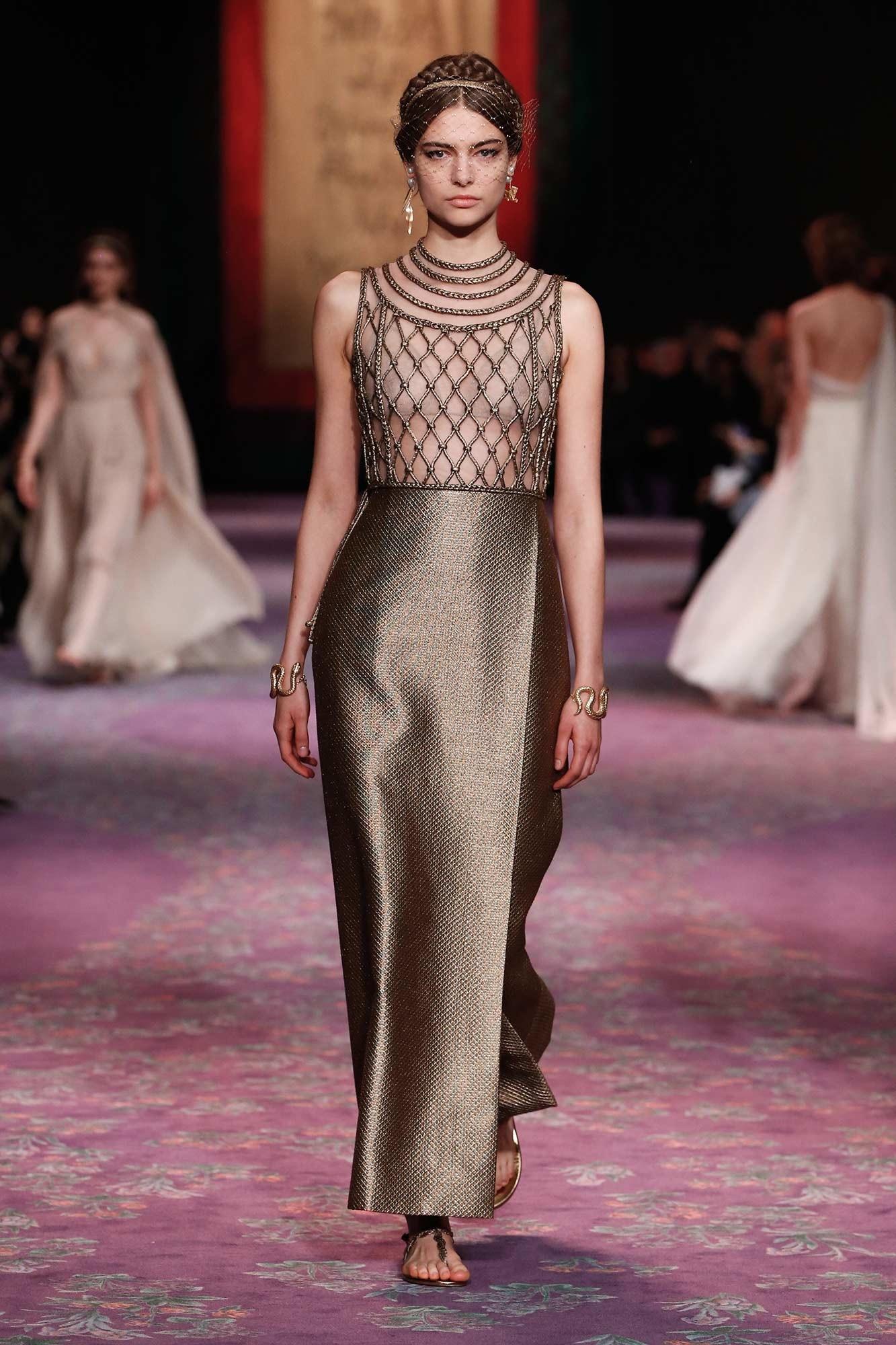 Dior Haute Couture Xuân - Hè 2020 đầm lưới 25