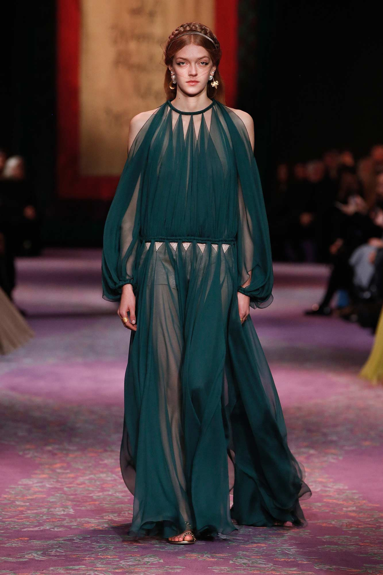 Dior Haute Couture Xuân - Hè 2020 đầm xanh 75