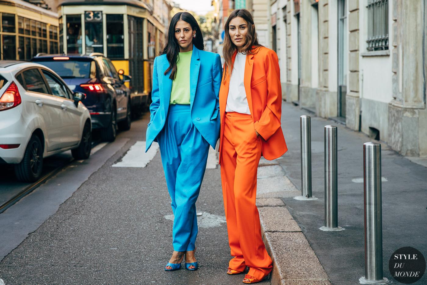 Những bộ suit quá khổ màu sắc sặc sỡ là lựa chọn hoàn hảo cho nàng Bảo Bình