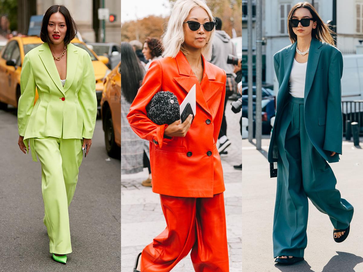 thời trang cung hoàng đạo bảo bình - bộ suit sắc màu kết hợp cùng phụ kiện đơn giản