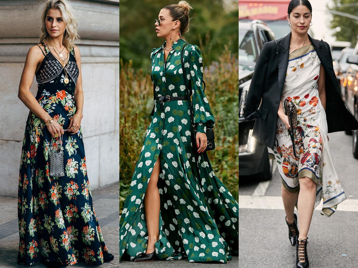 Trang phục họa tiết hoa cho thời trang cung hoàng đạo bảo bình