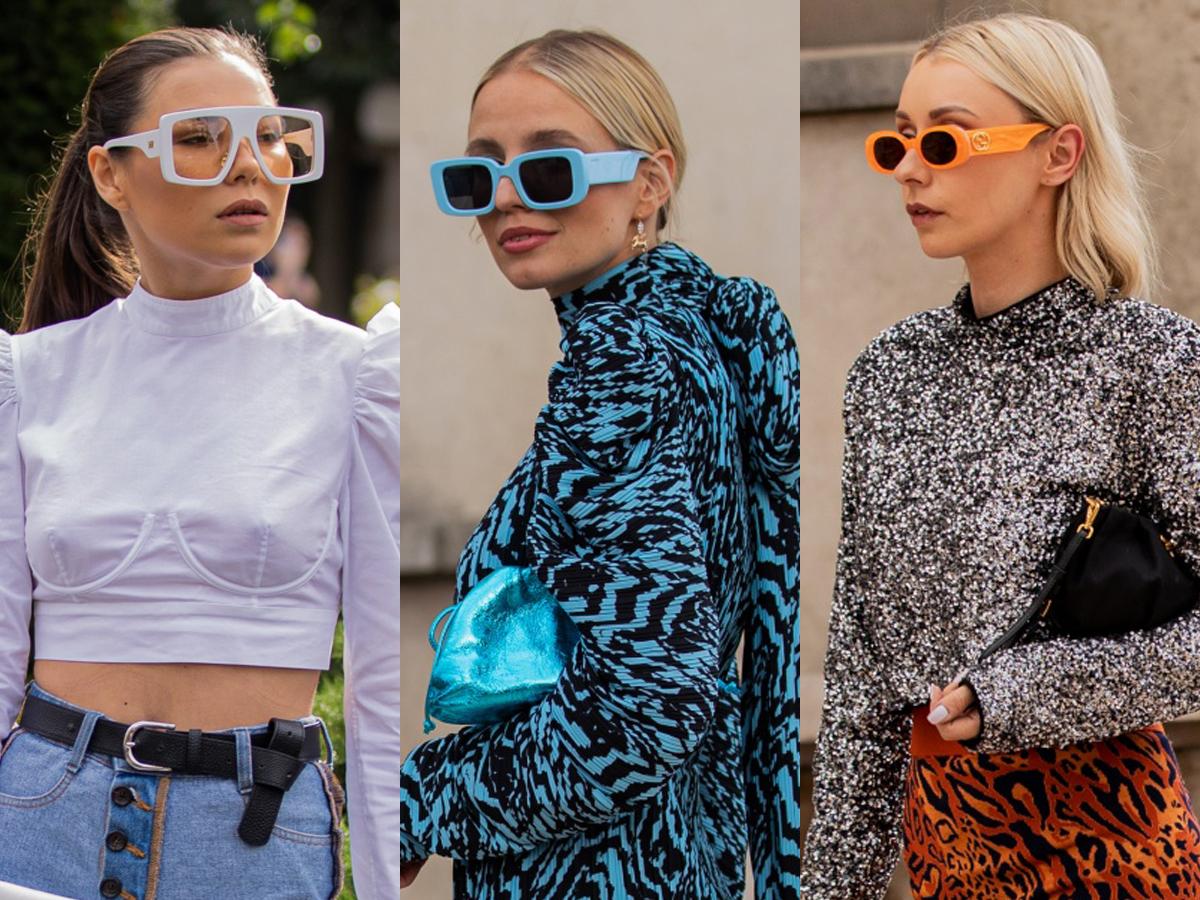 thời trang cung hoàng đạo bảo bình sành điệu với mắt kính statement gọng lớn nhiều màu sắc