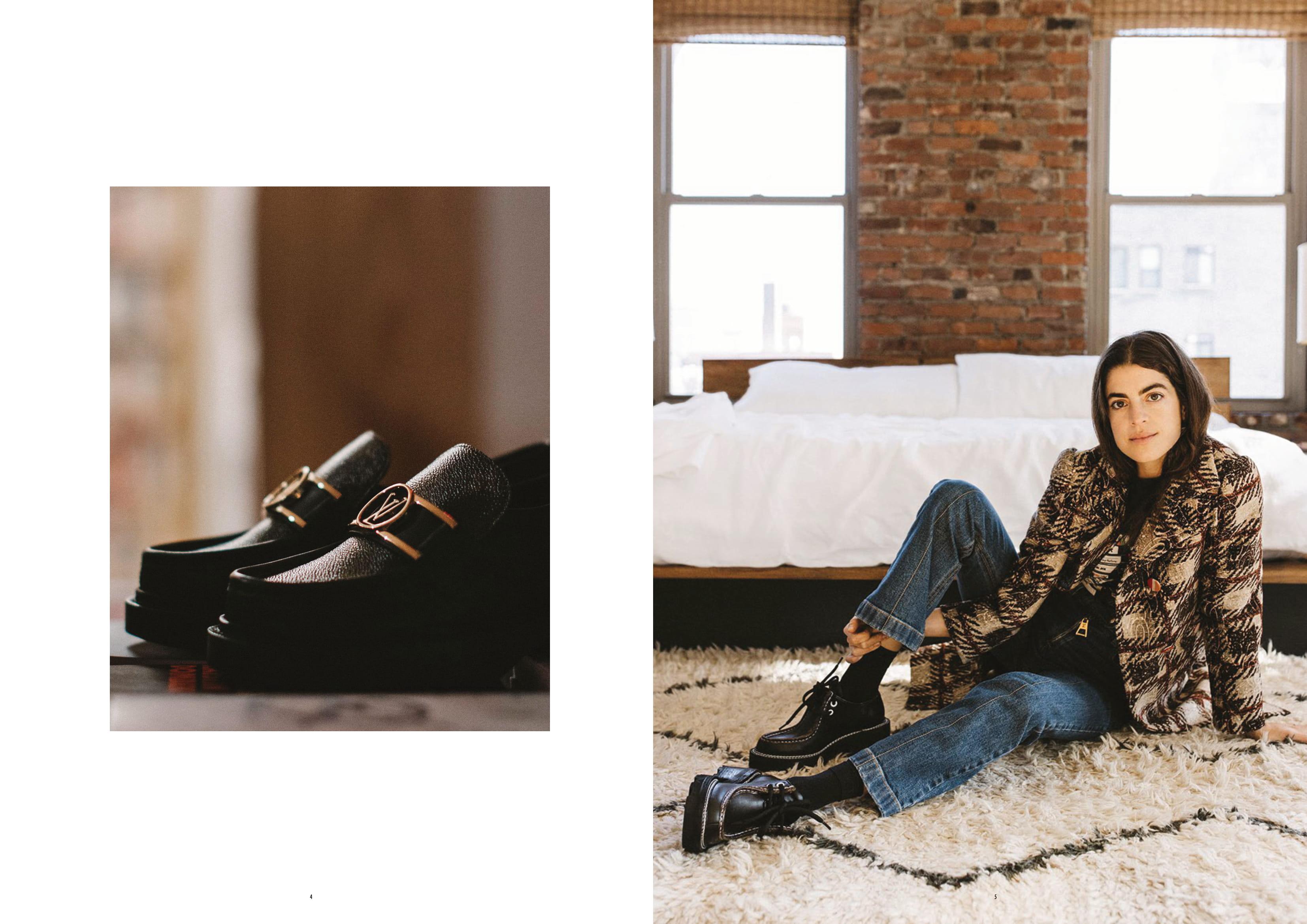 tin thời trang giày lười academy và giày platform lv beubourg louis vuitton xuân hè 2020