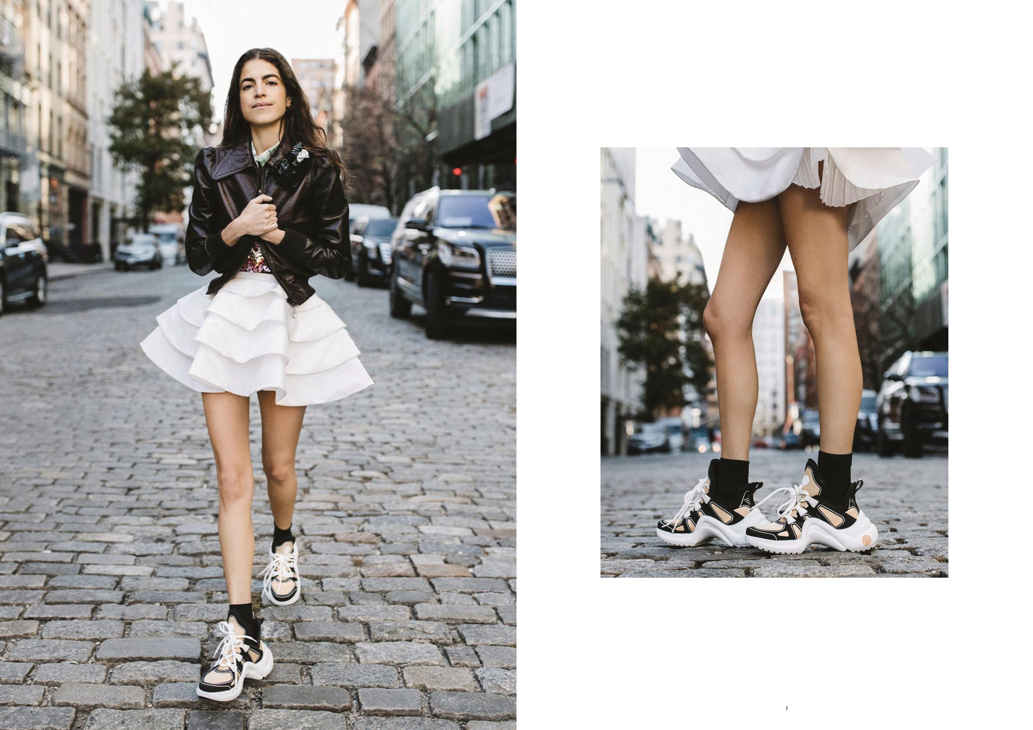 tin thời trang đôi giày sneaker thể thao lv archlight louis vuitton xuân hè 2020