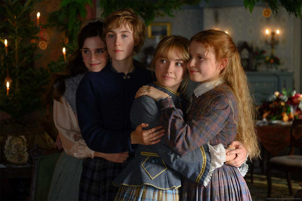 Chị em nhà March với trang phục đồng điệu trong Little Women - bộ phim thắng giải phục trang tại lễ trao giải Oscar 2020.