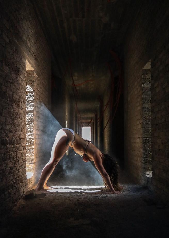 da căng bóng nhờ tập yoga thường xuyên
