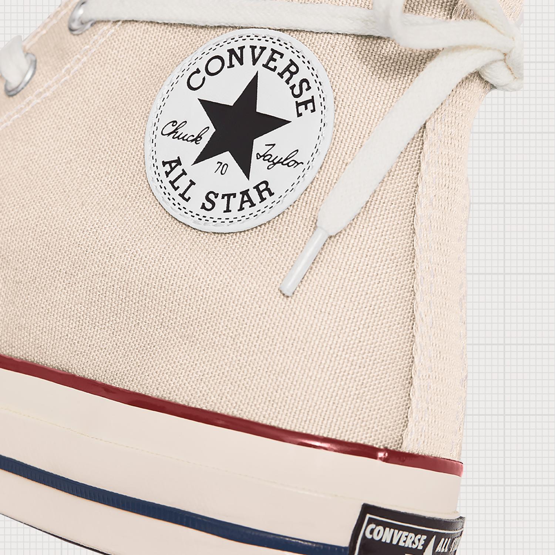 converse chuck 70 parchment logo thân giày đế giày