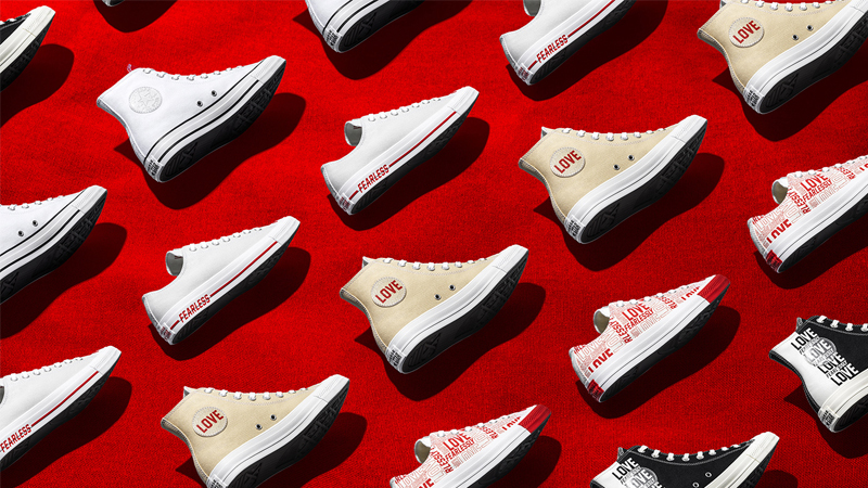 các thiết kế trong bst love fearlessly của converse ngày valentine