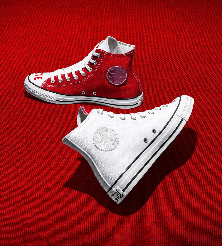 converse love fearlessly phiên bản trắng và đỏ