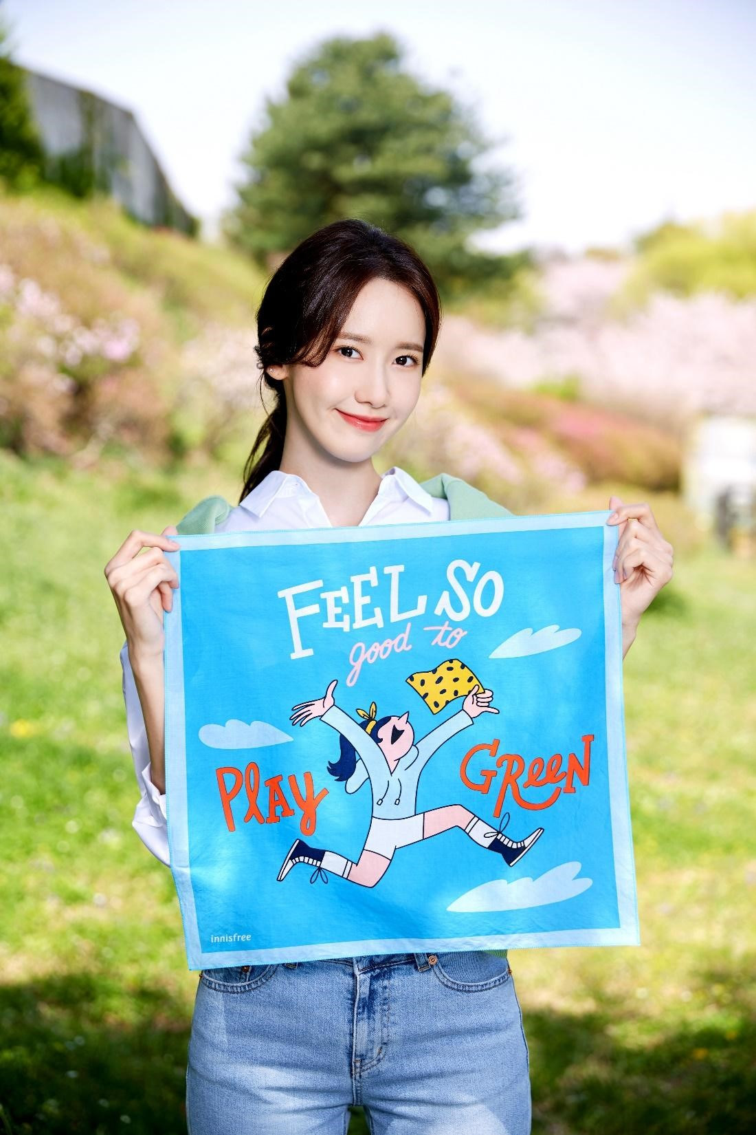 yoona trong chiến dịch eco hankie của innisfree 2019