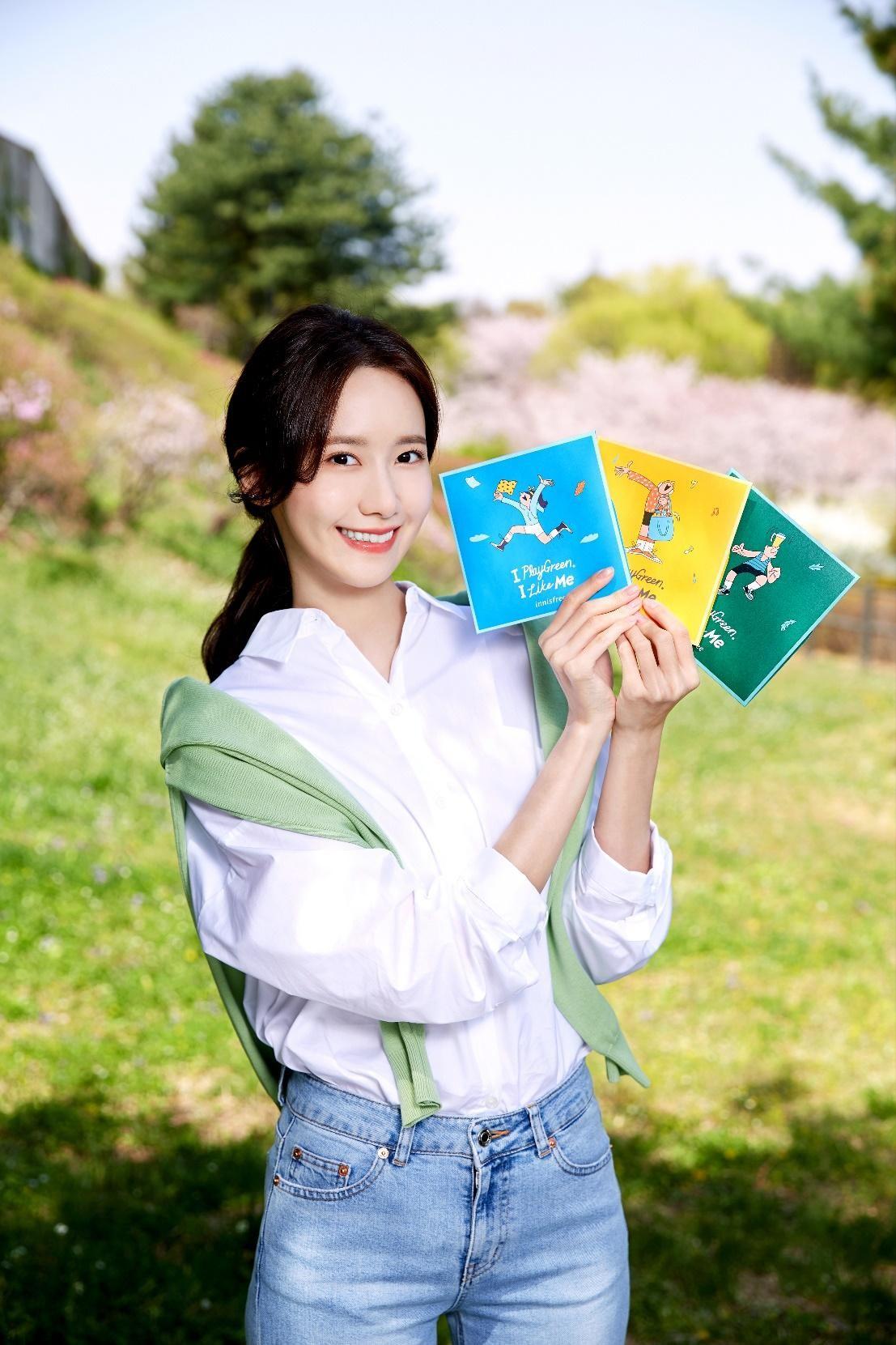 yoona giới thiệu 3 mẫu khăn tay họa tiết innisfree