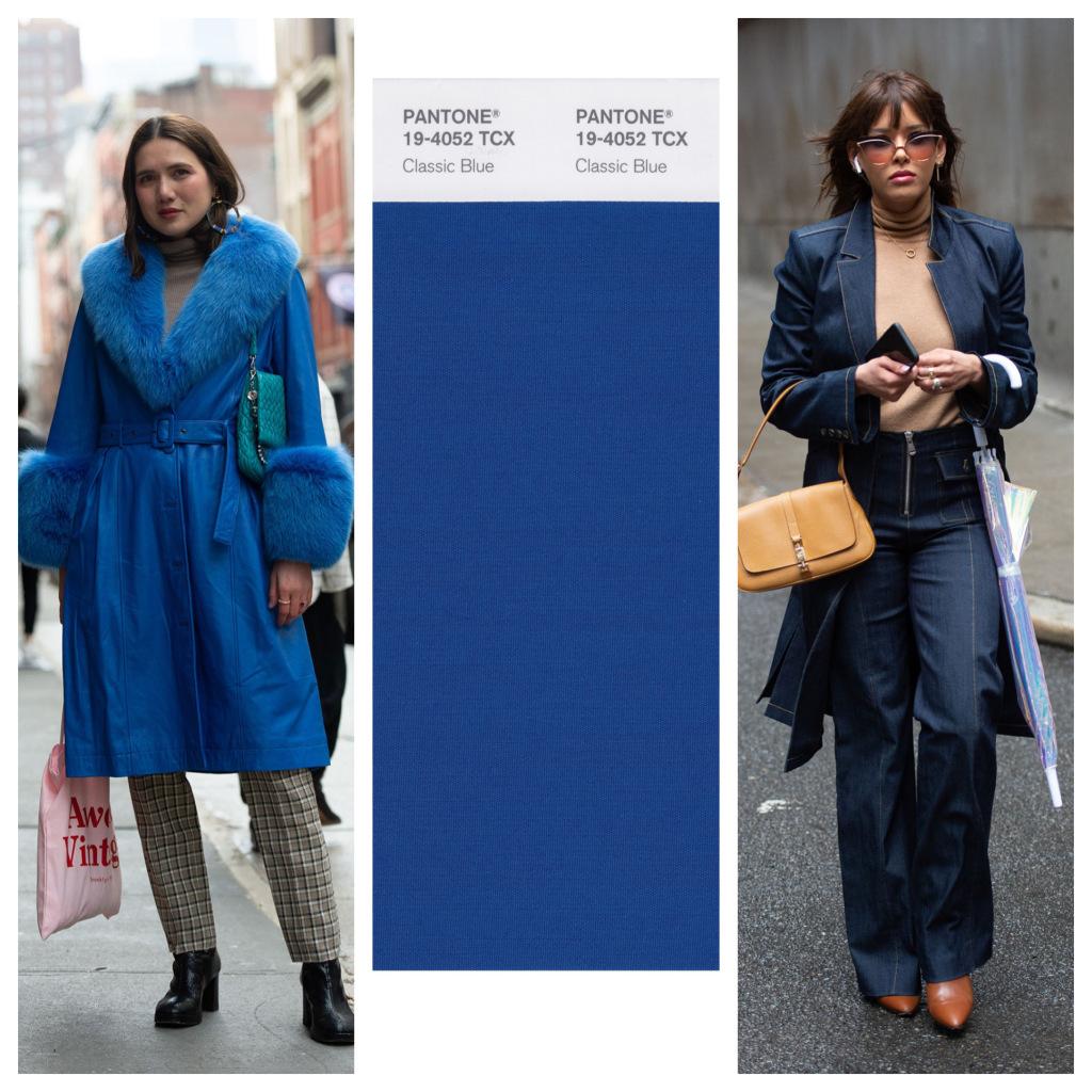 cách phối màu với classic blue trong new york fashion week