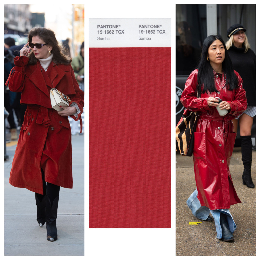 cách phối đồ với tông đỏ samba của fashionista