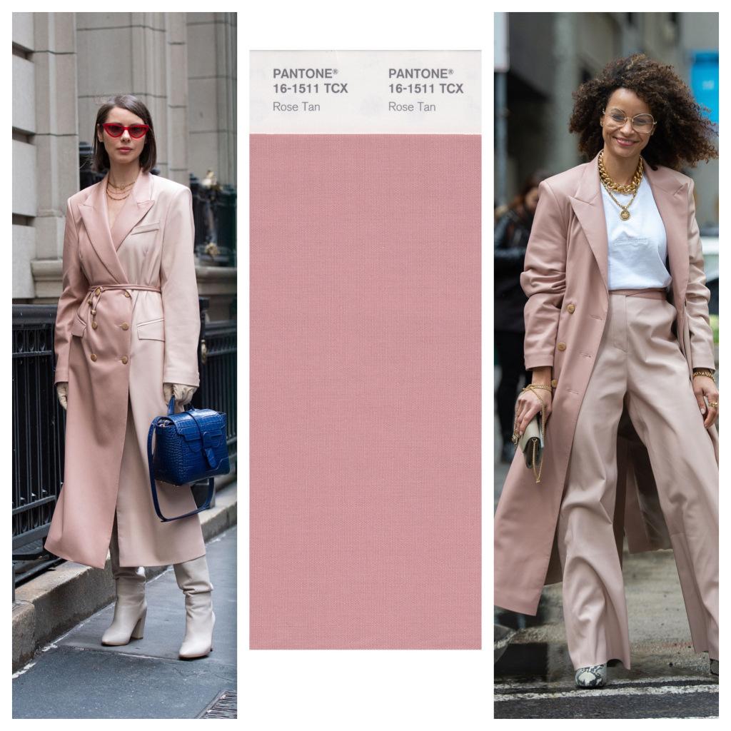 cách phối màu với rose tan của fashionista tại fashion week