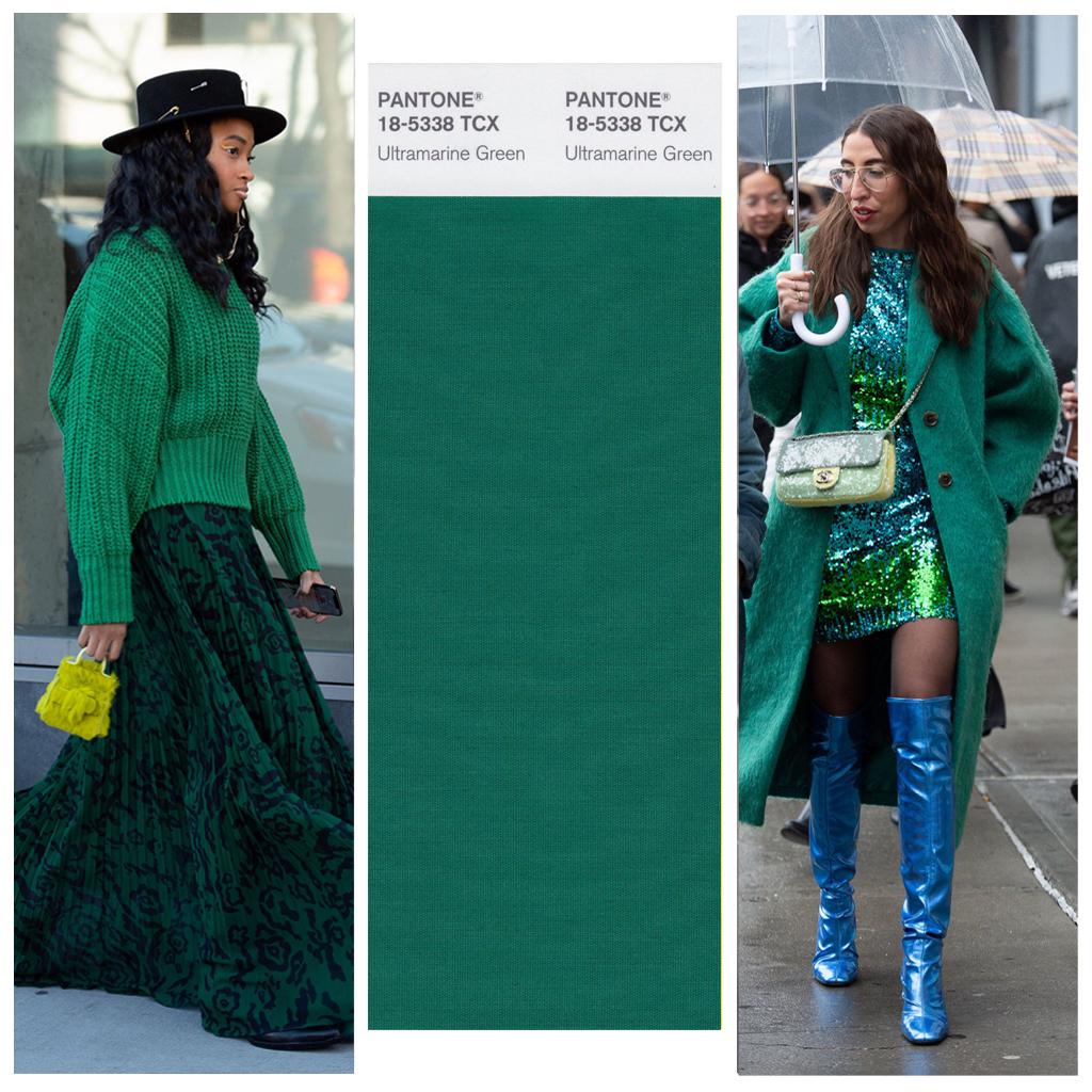 cách phối màu với xanh biếc như fashionista thế giới