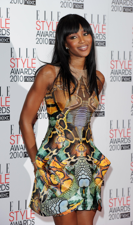 Naomi Campbell trên thảm đỏ ELLE Style Awards 2010