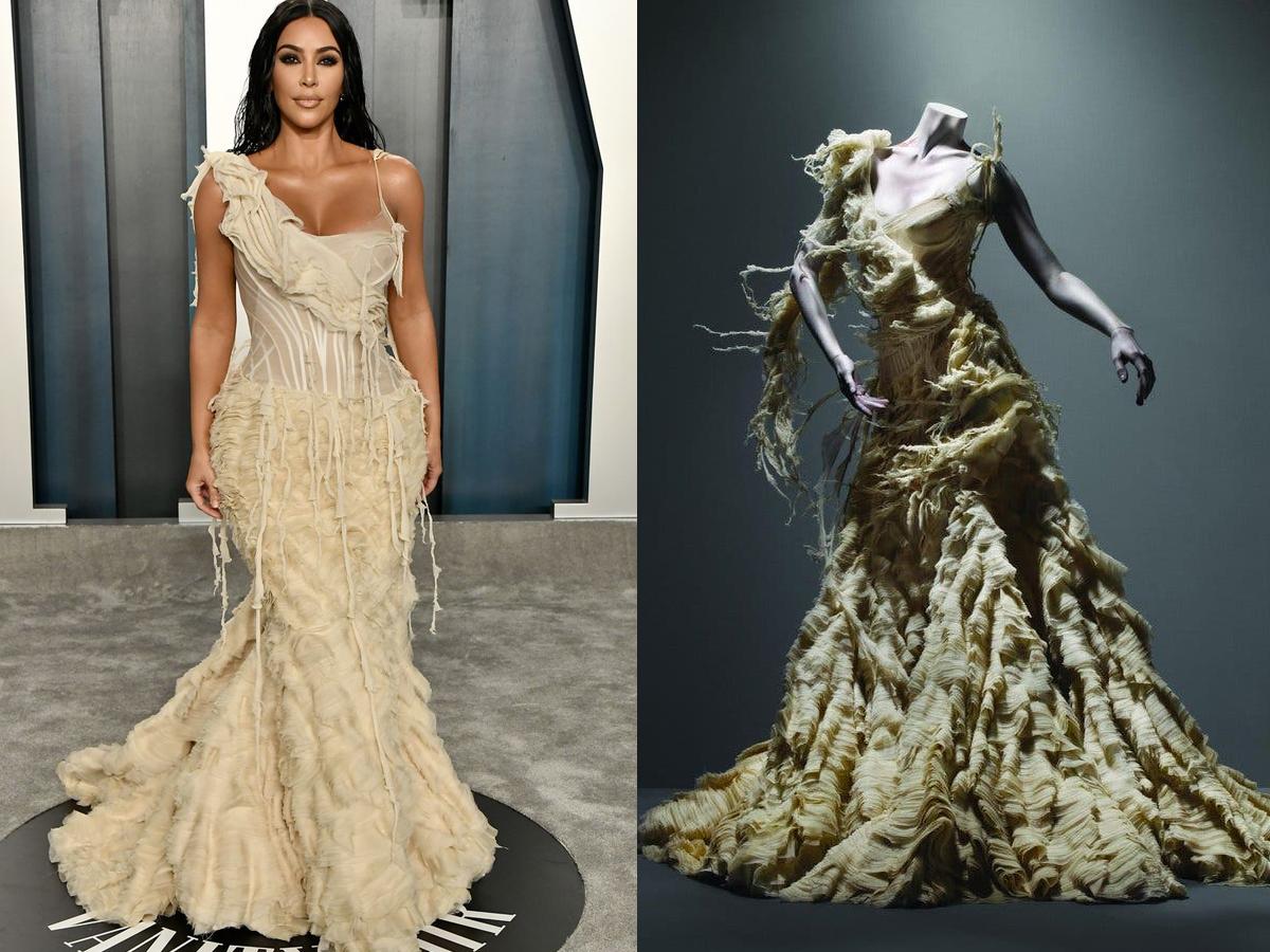 Kim Kardashian West trong chiếc đầm Oyster của Alexander McQueen
