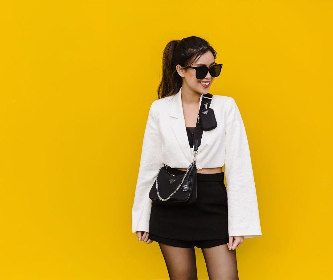 Tiên Nguyễn phong cách, thời thượng với áo blazer lửng
