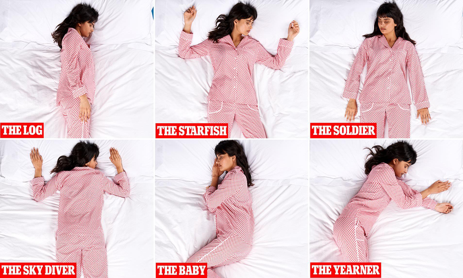 tính cách 6 tư thế ngủ cơ bản