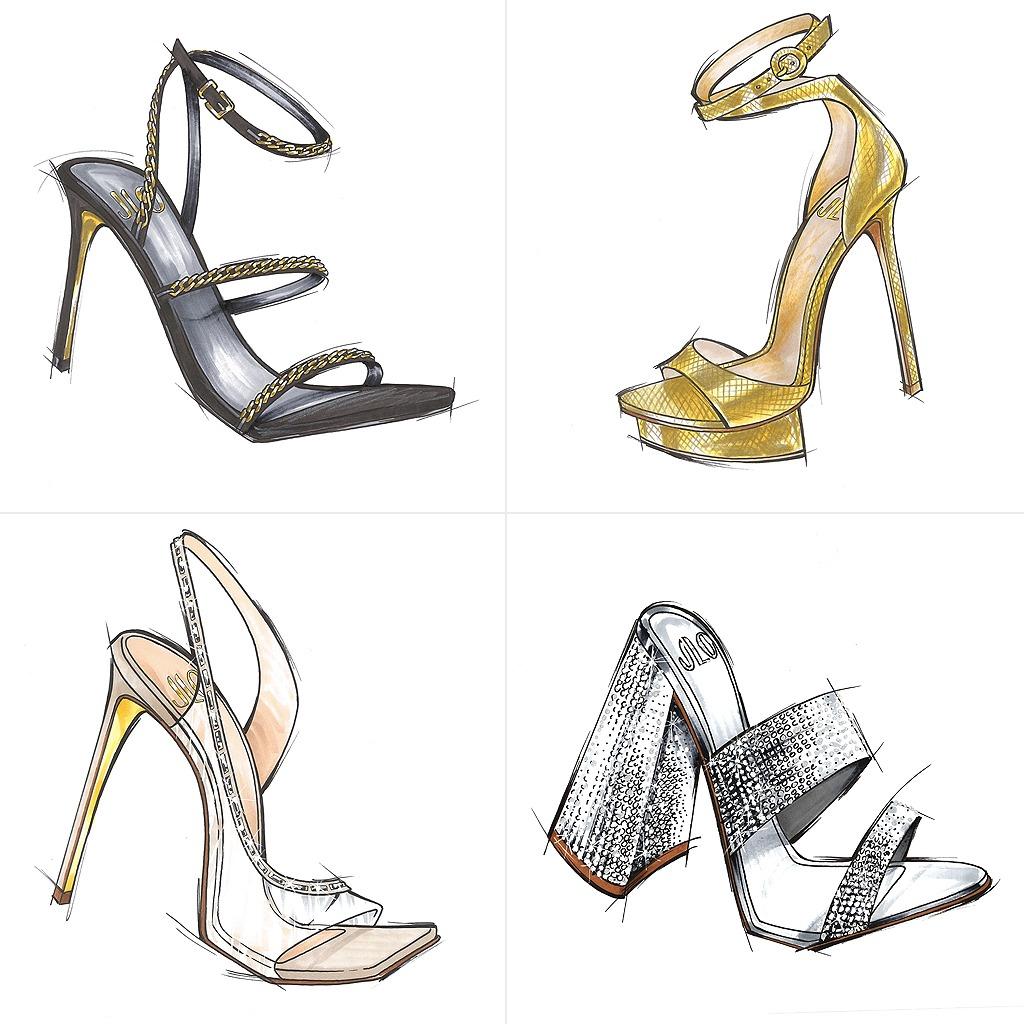 Các mẫu giày do chính tay Jennifer Lopez phác thảo