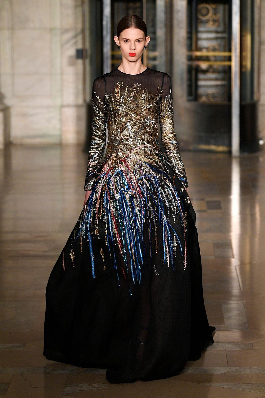 tuần lễ thời trang new york thu đông 2020 oscar de la renta look 38