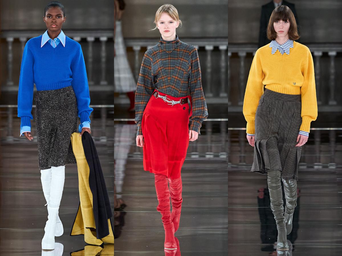 Điểm nhấn màu sắc cho thời trang công sở từ BST Thu - Đông 2020 của Victoria Beckham
