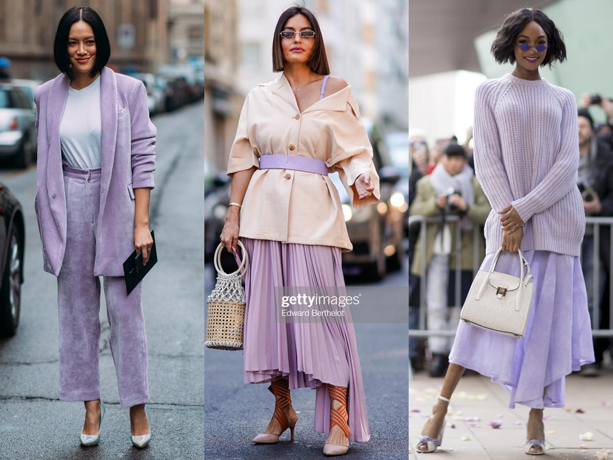 Street style mộng mơ với trang phục màu tím lavender