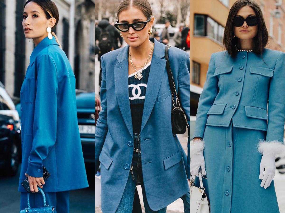 Muôn kiểu street style với trang phục màu xanh dương