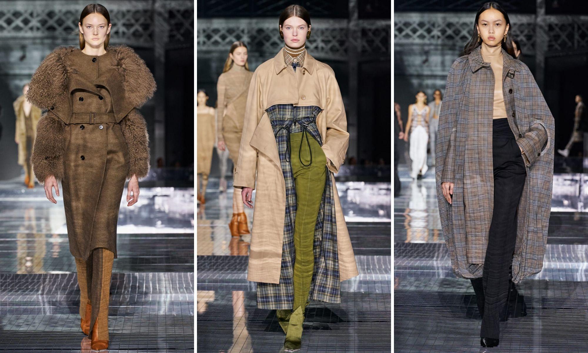 burberry thu đông 2020 trench coat tuần lễ thời trang london