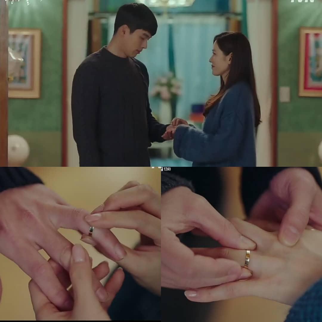 hyun bin và son ye jin trao nhẫn trong tập 13 hạ cánh nơi anh