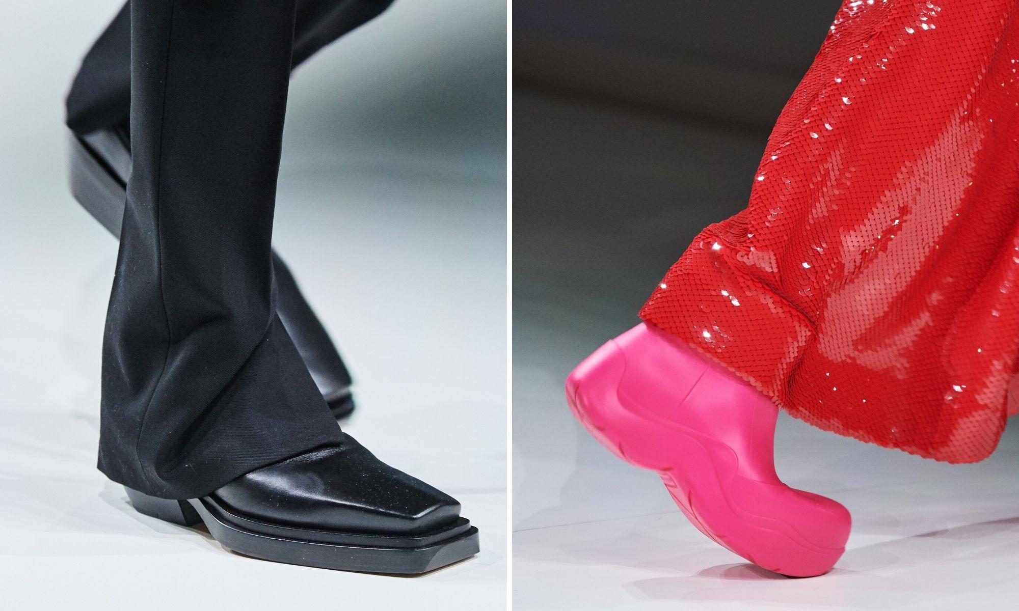 thiết kế giày bottega veneta thu đông 2020