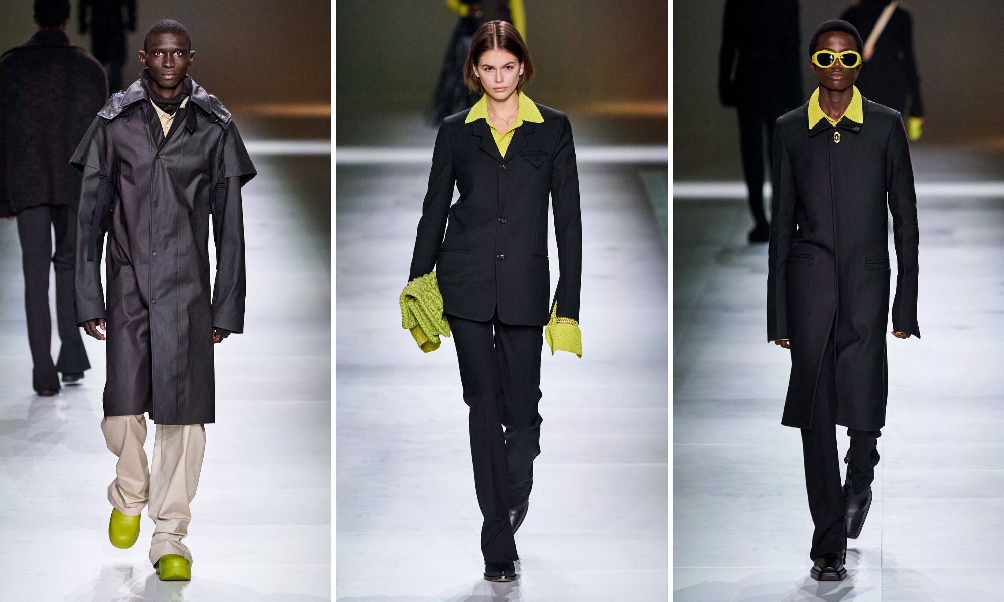 thiết kế suit tối giản bottega veneta thu đông 2020