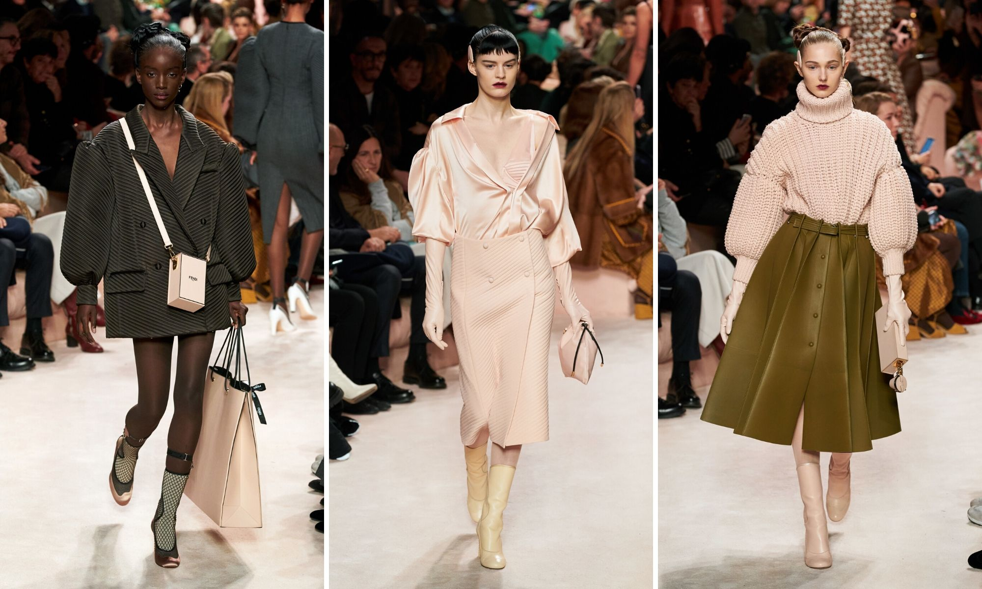 fendi thu đông 2020 các thiết kế màu hồng millennial