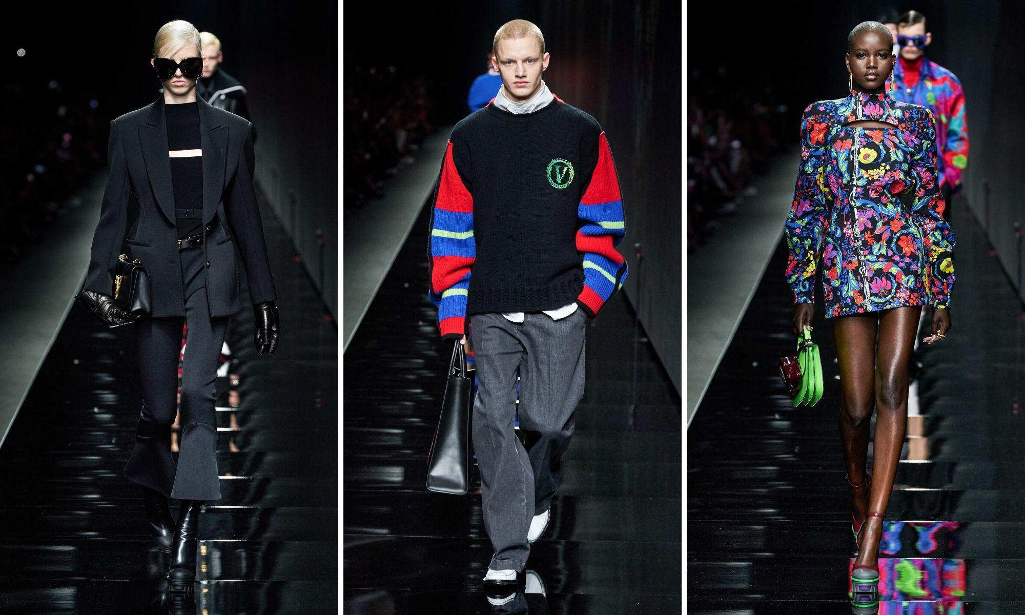 các thiết kế versace thu đông 2020 tuần lễ thời trang milan