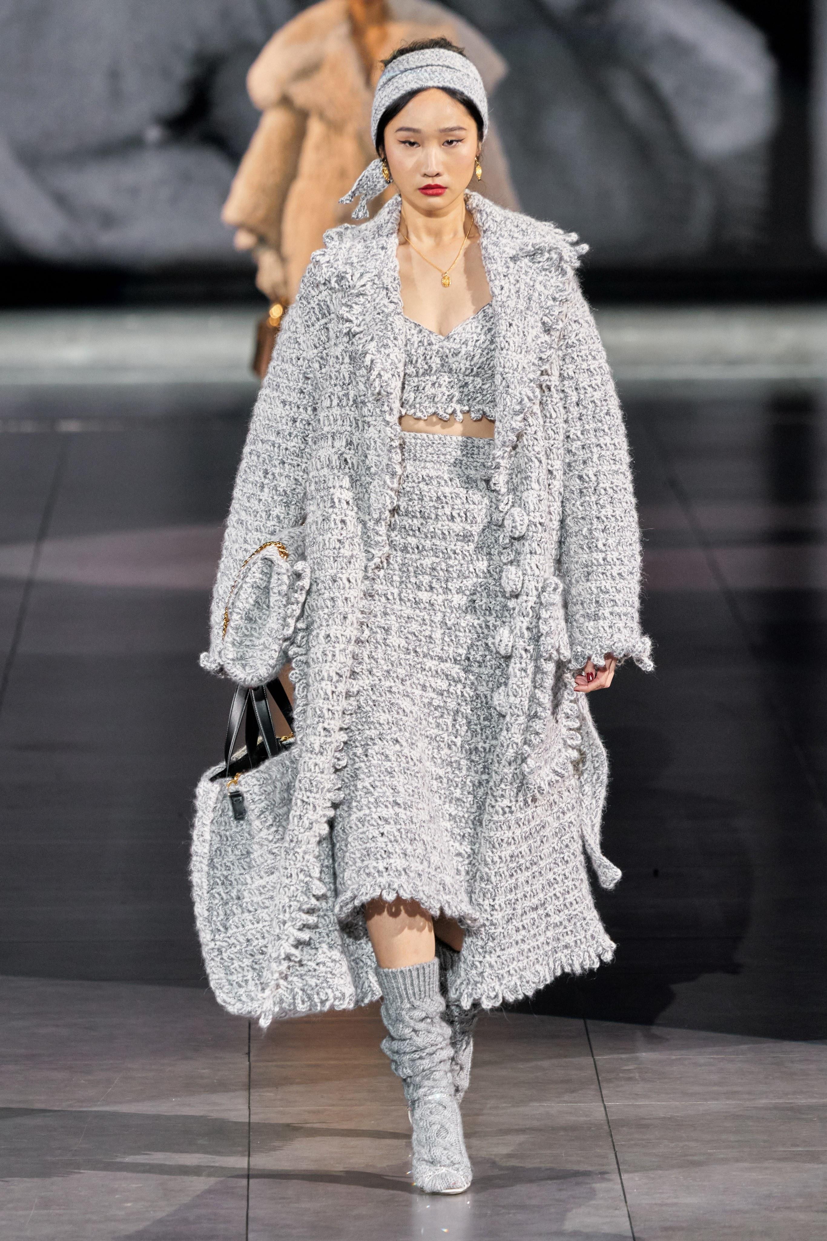 Thiết kế chất liệu tweed sang trọng từ BST Thu - Đông 2020 của Dolce&Gabbana
