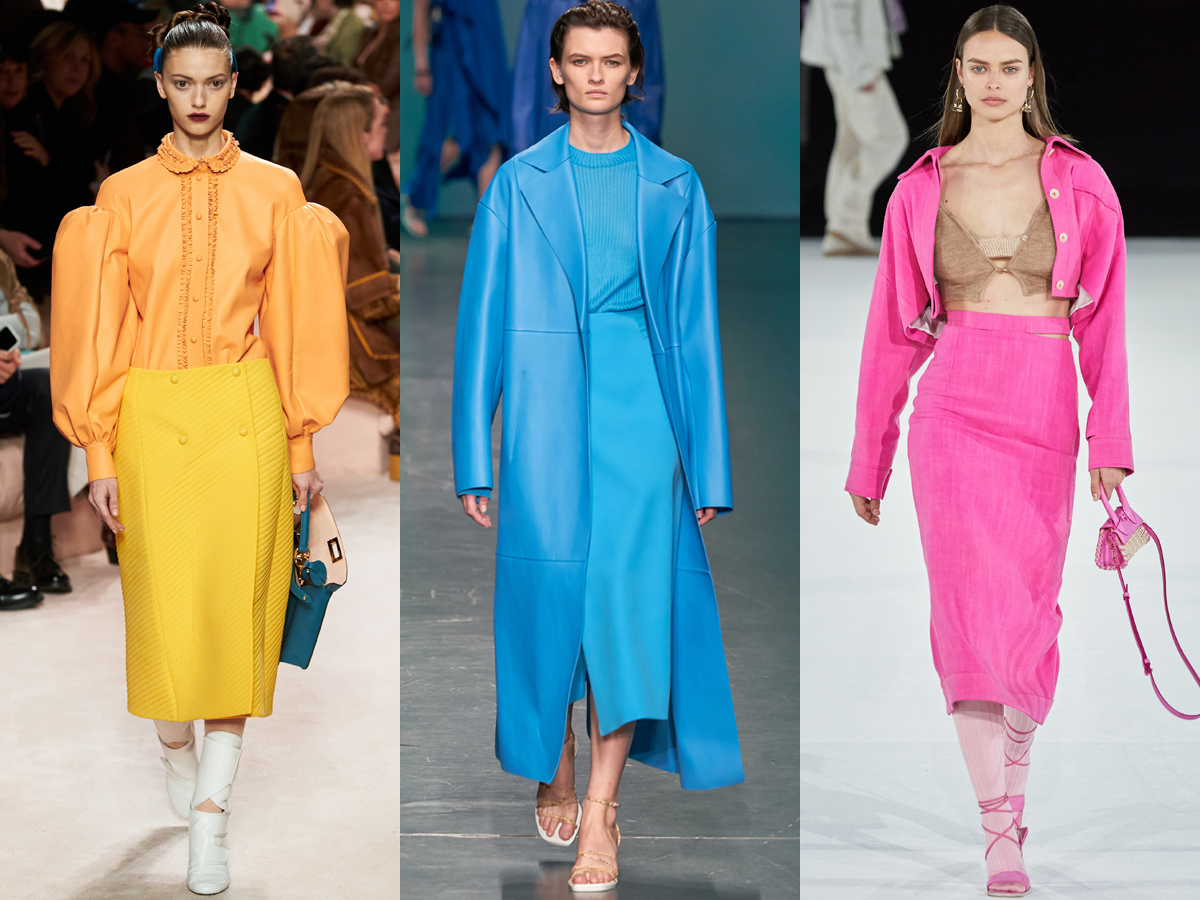 Chân váy bút chì màu sắc đa dạng trong tuần lễ thời trang Thu - Đông 2020